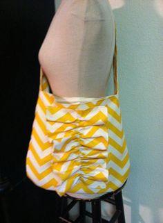 Izetta Jane Ruffle Tote  Yellow Chevron by IzettaJane on Etsy, $38.00