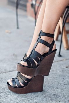 leather platforms