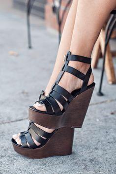 leather platforms