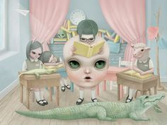 Little Mama Goes to School - Reading Class by Hsiao Ron Cheng, via Flickr