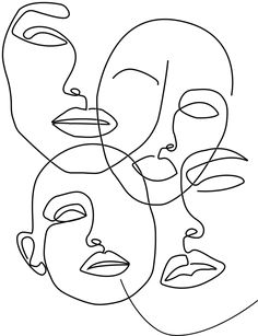 Abstract Carnival Face Printable, One Line Child Like Drawing Print, Minimalist . - Abstract Carnival Face Printable, One Line Child Like Drawing Print, Minimalist Emoji Faces Art Pri - Art Sketches, Art Drawings, Abstract Drawings, Kritzelei Tattoo, Minimal Art, Abstract Face Art, Outline Art, Minimalist Drawing, Emoji Faces