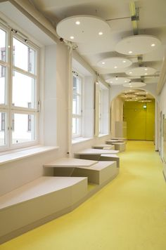 BSL - refurbished corridors historical elementary school , Berlin, 2015 - LIN - Architects Urbanists