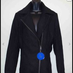 Kristen Blake Asymmetrical Full Zip Coat Size M Kristen Blake Ladies Full Zip Coat Black US Size Medium Kristen Blake Jackets & Coats Pea Coats