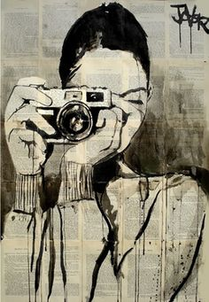 Saatchi Online Artist Loui Jover; Drawing, asymmetrical design witht the camera being the pulling factor.