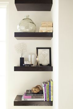 Shelves for corner of master bedroom- before bathroom entry