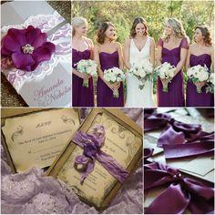Charmante Spitze Hochzeit Einladungen lila