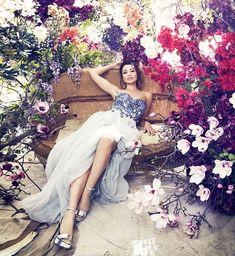 Dannii Minogue in Harpers Bazaar December 2014. Gorgeous flowers by Grandiflora in Sydney.
