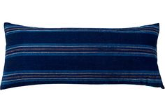 Japanese Indigo Stripe Pillow on OneKingsLane.com