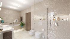 Elegantná moderná kúpeľňa Alcove, Bathroom Lighting, Bathtub, Mirror, Furniture, Home Decor, Bathroom Light Fittings, Standing Bath, Bathroom Vanity Lighting