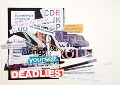 typography collage by maryam alrajeh, via Behance