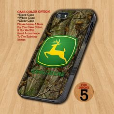 John Deere Logo Camo Hunting - Design on Hard Case For iPhone 5 Case | GetToMade - Accessories on ArtFire