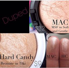 Mac soft and gentle dupe hardcandy