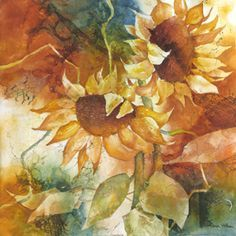 karlyn holman Watercolor Making Your Mark sunflowers - Google Search