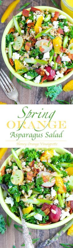 spring orange asparagus salad