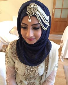 Beautiful Hijab Styles For Brides - ModTrendsElite Bridal Hijab Styles, Muslim Wedding Dresses, Muslim Brides, Arab Fashion, Muslim Fashion, Hijabs, Hijab Style Dress, Hijab Outfit, Hijab Trends