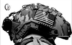 Ballistic helmet with IR patch. Expensive as hell too
