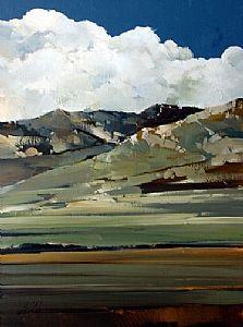 "2010, High Creek Foothills by Joseph Alleman Oil ~ 16"" x 12"""