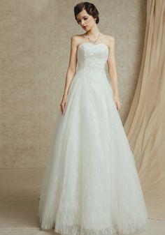 ac58e4e036dd6 ウェディングドレス ハートカット フロアー丈 ノースリーブ レースアップ チュール A ライン 二次会 ドレス 花嫁 Halz0047