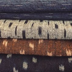 "thecompanionseye: "" In love with these Japanese selvedge Ikat-Kasuri textiles. #ikat #indigo #selvage """