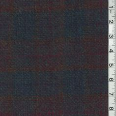 Navy Multi Plaid Wool Coating - Fabric By The Yard