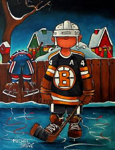 hockey Hockey Pictures, Sports Pictures, Cute Pictures, Hockey Drawing, Hockey Decor, Art Fantaisiste, Christmas Paintings On Canvas, Sports Art, Pictures To Paint