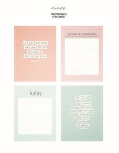 free printable project life cards by MMARCET Printable Quotes, Printable Cards, Printable Planner, Free Printables, Free Planner, Printable Stickers, Project Life Freebies, Project Life Cards, Life Journal