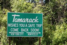Tamarack Farewell Sign