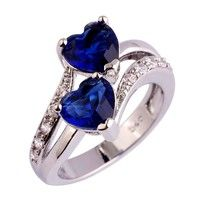 Brand: LM; Material:Stone; Style:Fashion; Metal:Silver Main Stone:Sapphire Quartz & White Topaz; Sto