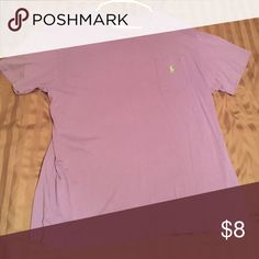 Polo shirt Light purple polo shirt, has small hole on top of left shoulder but not noticeable Polo by Ralph Lauren Shirts Tees - Short Sleeve
