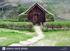 Download this stock image: Traditional Icelandic House - Pjodveldisbaer, Icelandic Highlands, Iceland - DAG7NA from Alamy's library of millions of high resolution stock photos, illustrations and vectors.