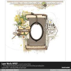 Layer Works No. 937- Studio Double-D Templates- LT192943- DesignerDigitals