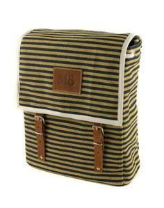 Mödernaked - Blue Marine Globby Canvas Backpack. // Exclusive Jewellery