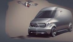 The futuristic design of the Mercedes-Benz Vision Van provides a foretaste of future generations of vans.