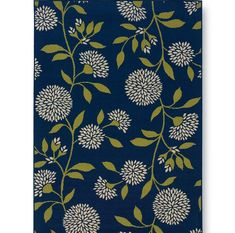 Floral Surry Blue Outdoor Area Rug
