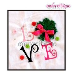 Shamrock Love Block Raw Edge Applique - 3 Sizes! | St. Patrick's Day | Machine Embroidery Designs | SWAKembroidery.com Embroitique