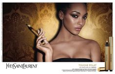 Yves Saint Laurent's Touche Eclat campaign enlists top models Jourdan Dunn and Ginta Lapina for two stunning advertisements. Captured by Terry Richardson… Terry Richardson, Yves Saint Laurent Beauté, Ginta Lapina, Ysl Beauty, Black Beauty, Iconic Beauty, Jourdan Dunn, Natalia Vodianova, Maybelline