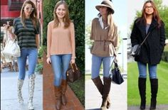 What To Wear With Knee High Boots - Outfit With High Boots - Dresses to Wear #Fashion #Boots #HighBoots #BlackBoot #BrownBoots #Trend2015