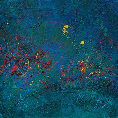 Abstract Acrylic Painting: Mystical Waters by LiveWaterStudios