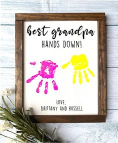 Baby Crafts, Crafts For Kids, Diy Father's Day Crafts, Fathers Day Crafts, Gifts For Fathers Day, Cute Fathers Day Ideas, Diy Father's Day Gifts From Baby, Diy Gifts For Grandma, Father's Day Diy