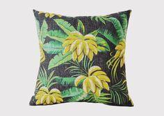 Tropical Bananas Cushion - Jasper & Tallow Furniture