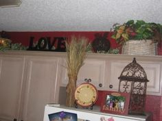 top of cabinet decor - Google Search