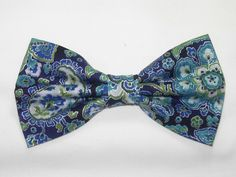 Excited to share the latest addition to my #etsy shop: Blue Paisley Bow Tie | Pre-tied Bow tie | Paisley bow tie | Blue & Silver | Wedding bow ties | Boys Bow tie | Mens Bow tie | Dog Bow tie http://etsy.me/2FecAII #accessories #blue #wedding #silver #monicamaria