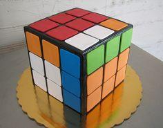 Perfect Rubik's cube cake.