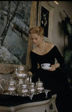 A cup of tea is always lovely wih silver service