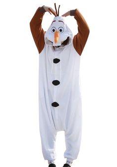 """Aileen: Ella necesita 1 traje de """"Olaf"""" que se puede poner encima de otro traje y se quita muy rápido"""