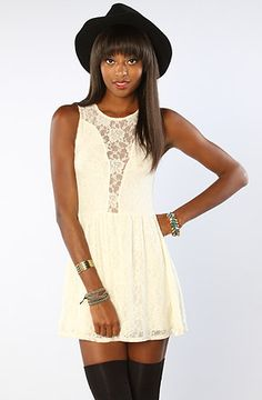 The Lulu Dress in Off White by For Love