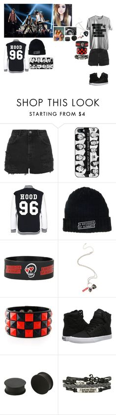 """5sos Concert"" by brookie5sos ❤ liked on Polyvore featuring Topshop, Supra, KAOS and maddyconcertcontest"