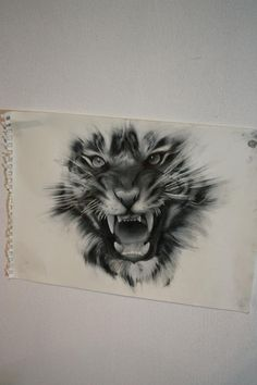 This is a mean tiger tattoo