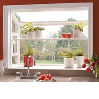 love the crown molding around the garden window and i love the