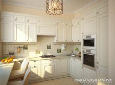 Дизайн интерьера в средиземноморском стиле в сталинском доме | Дизайн интерьера в Москве от студии дизайна Марии Каштановой